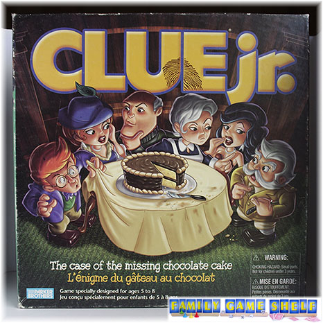 Clue Jr. Case of the Missing Chocolate Cake game box