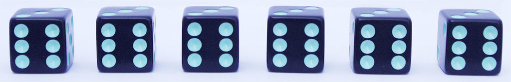 Six out of six dice rating