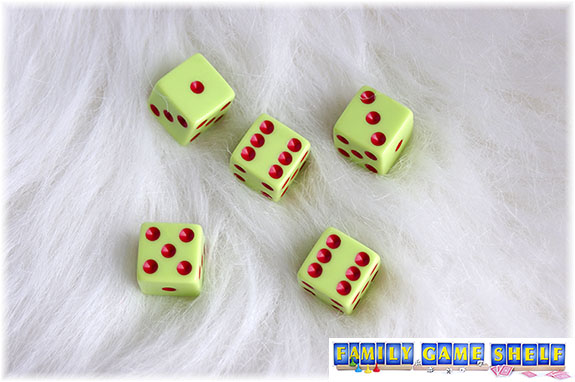 A Santa's Sleigh dice game roll of a one, a six, a three, a five and another six shows a completed roll with a score of 11.