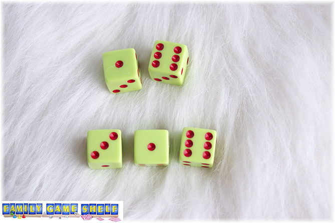 A Santa's Sleigh dice game roll of a sic and a one give a score of 7