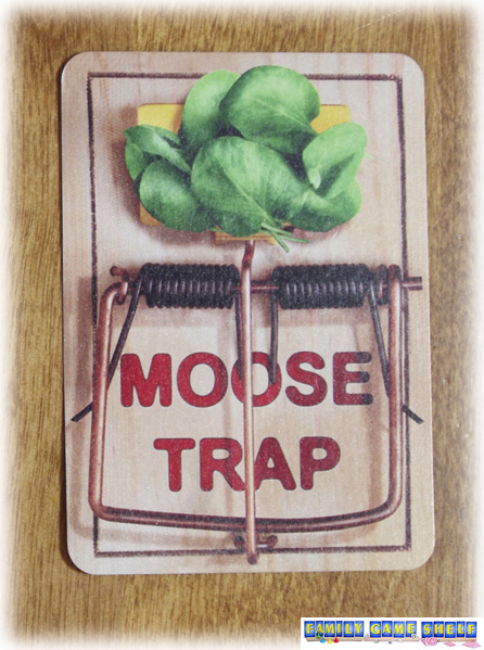 Card pictures of moose trap