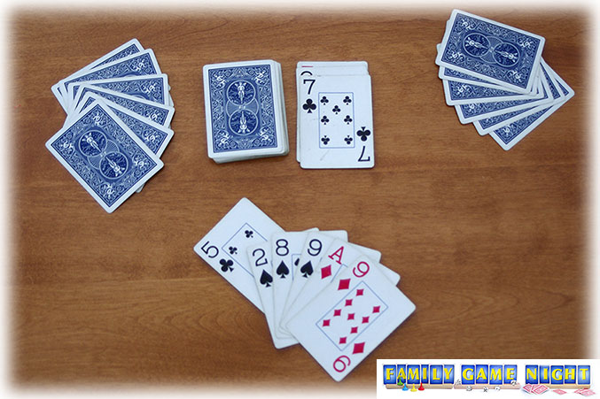 In Crazy Eights Card game, cards can be matched with the suit on the discard pile.