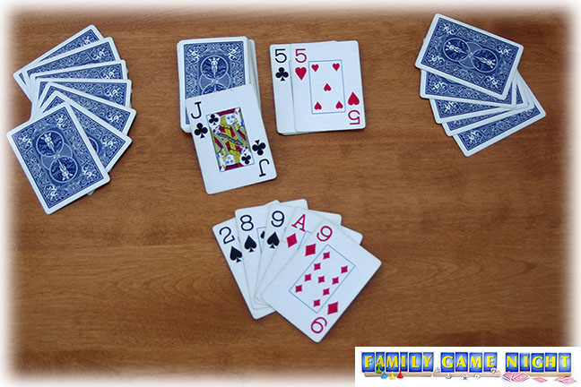 If a player can not match the suit or number, and does not have an eight, she must pick up from the draw pile.