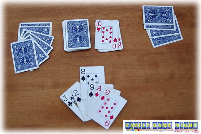 In Crazy Eights a player can play an eight at any time and change the suit.