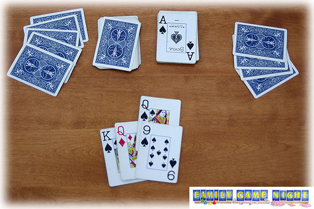 Playing a the Queen of Spades make the next player pick up five cards.