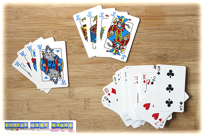 There are four special wizard cards and four jester cards