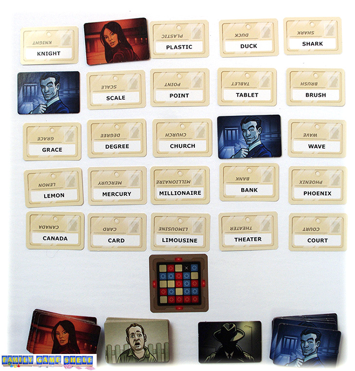 In Codenames, you cover up the guesses.