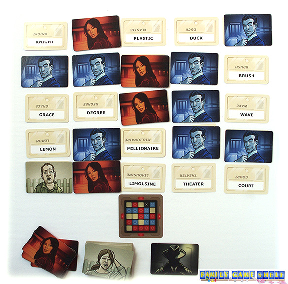 The first team to contact all their agents wins Codenames.